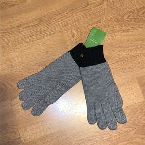 NWT Kate Spade Colorblocked Knit Gloves
